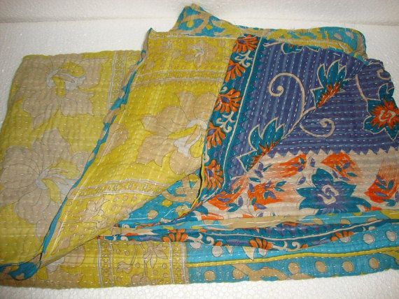 Reversible Handmade Cotton Bedding Bedspread by Antiquecollections, $29.90