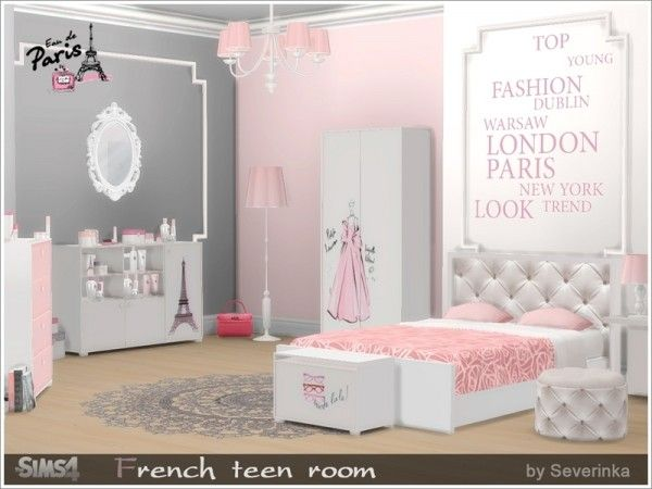 The Sims Resource French Teen Room By Severinka Sims 4