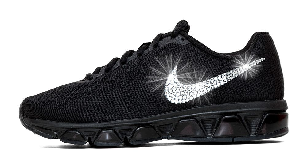 Nike Air Max Tailwind Running Shoes By Glitter Kicks - Customized With  Swarovski Crystal Rhinestones - Black 255e83bc44