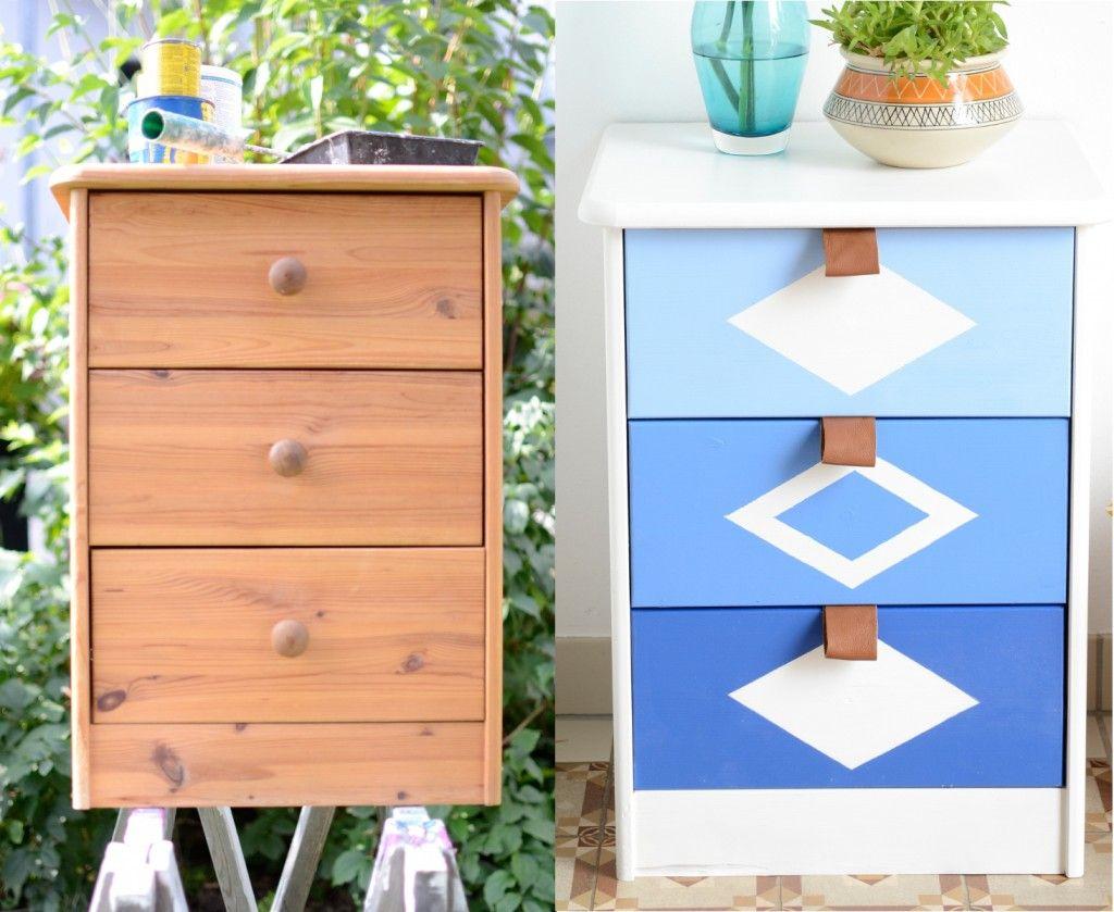 DIY Kommode aufmöbeln | Kommode, Leder und Vintage