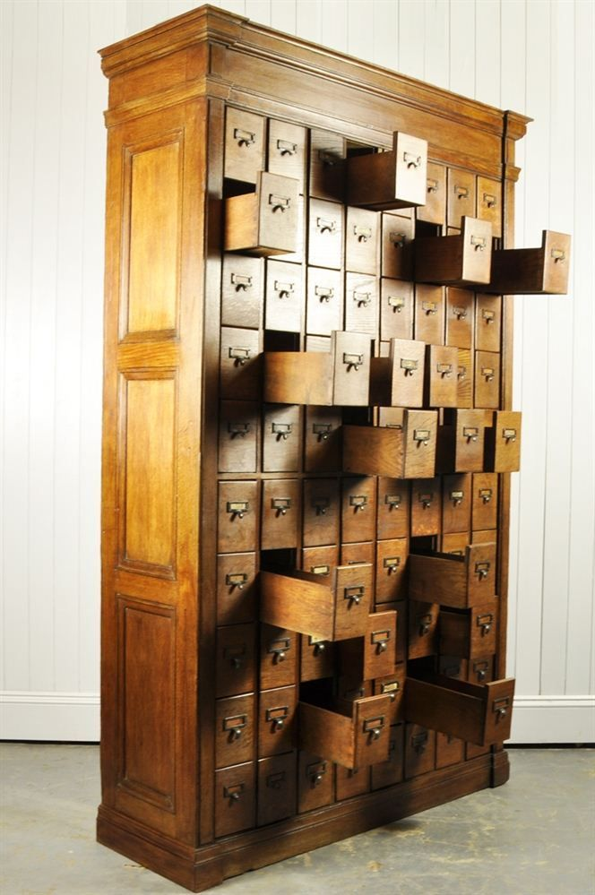 Large antique oak bank of drawers   visit our large collection of ...