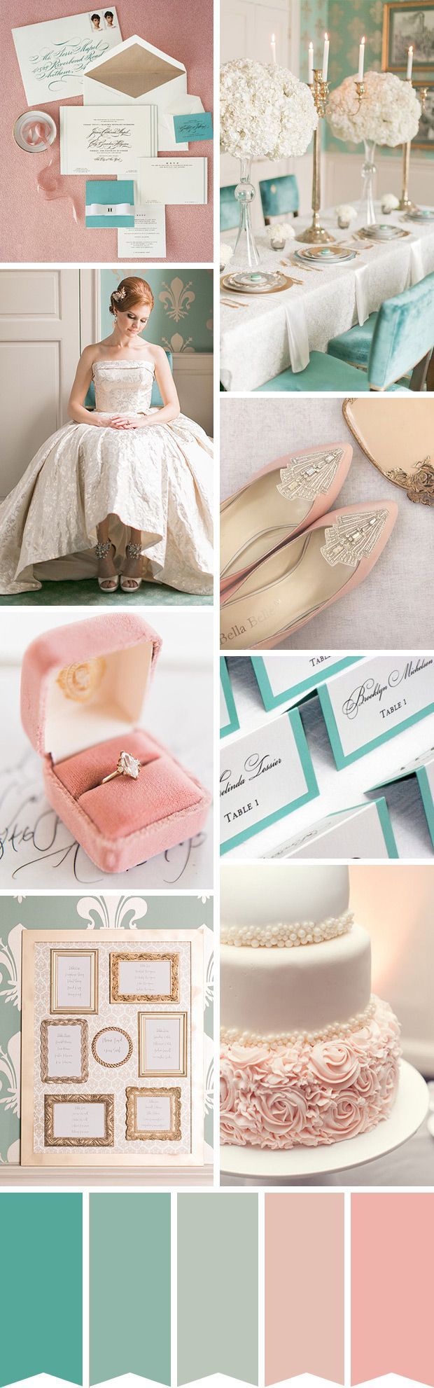 Feminine And Elegant Tiffany Blue And Blush Wedding Inspiration Onefabday Com Ireland Blue And Blush Wedding Teal Wedding Colors Blush Wedding Inspiration