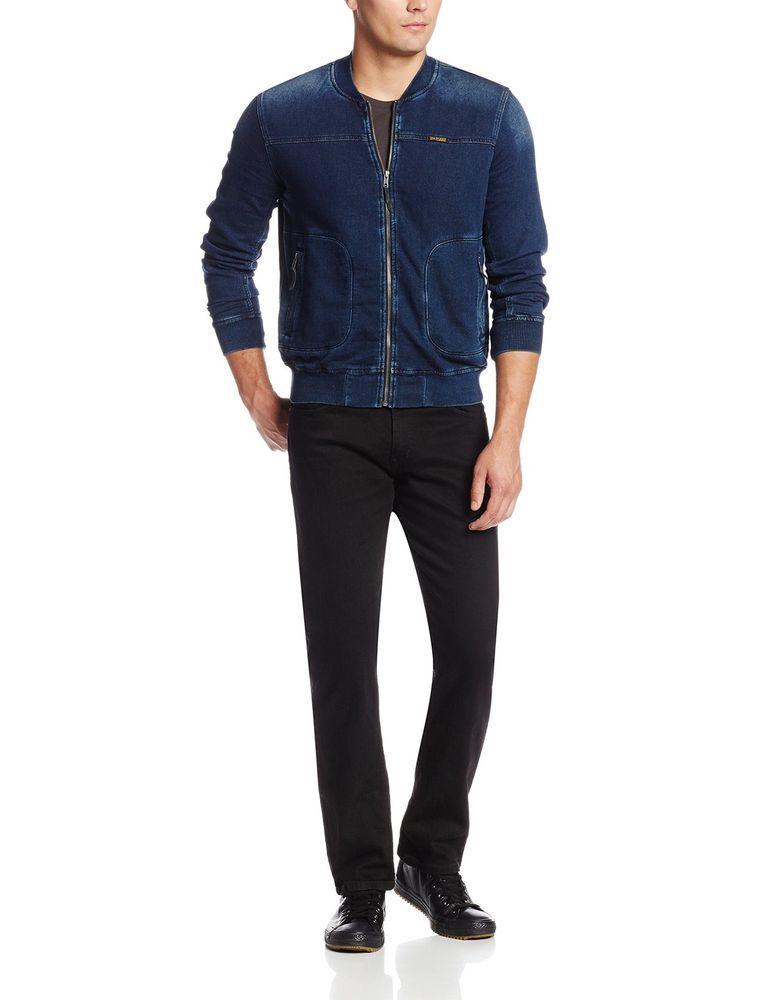 True Religion Men's Runner Jacket Size L in Indigo NWT $228 #TrueReligion #FlightBomber