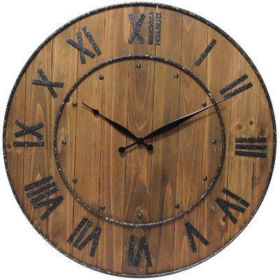 Trent Austin Design Oversized Northrop Wine Barrel 23 Wall Clock Wine Barrel Wall Rustic Wall Clocks Clock