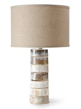 Wonderful Stacked Horn Table Lamp