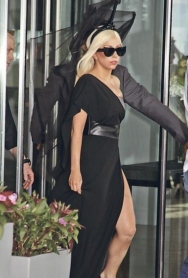 SPOTTED! Lady Gaga wearing ksubi Rana black sunglasses, some of the most gorgeous cat-eye sunglasses we've seen in a while! Shop the pair at SunglassCurator.
