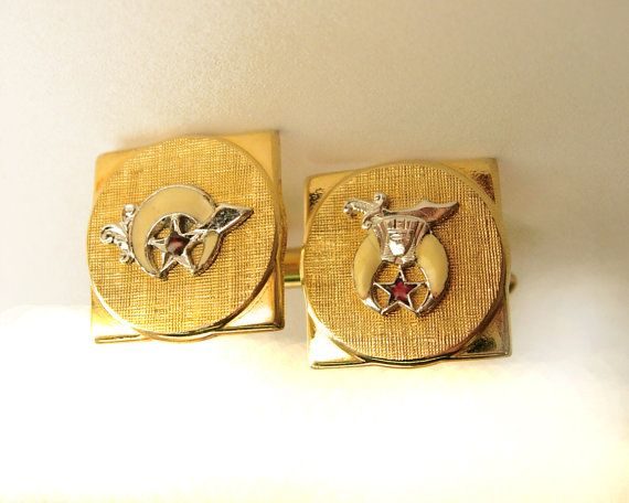 Vintage Masonic Shriner Fraternal Cufflinks by NeatstuffAntiques, $35.00