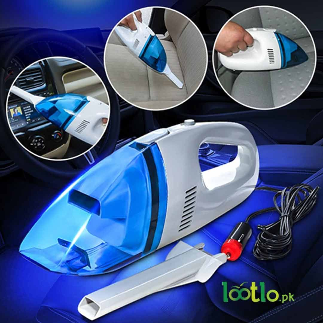 Portable Mini Vacuum Cleaner (Blue) For Cars Wet dry