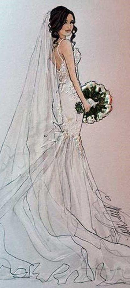 karen orr bridal illustration | boda invitaciones