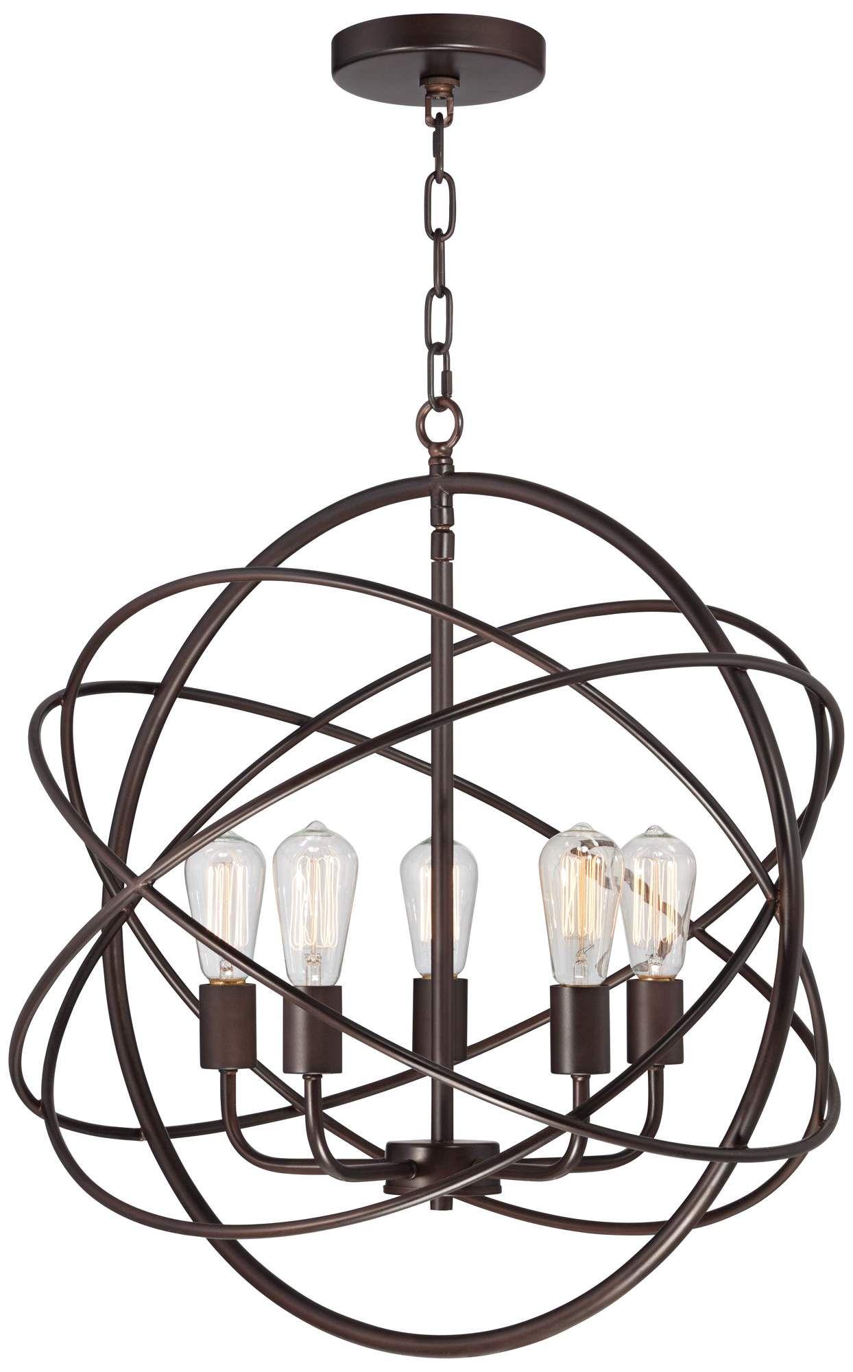 Bronze Spherical Chandelier
