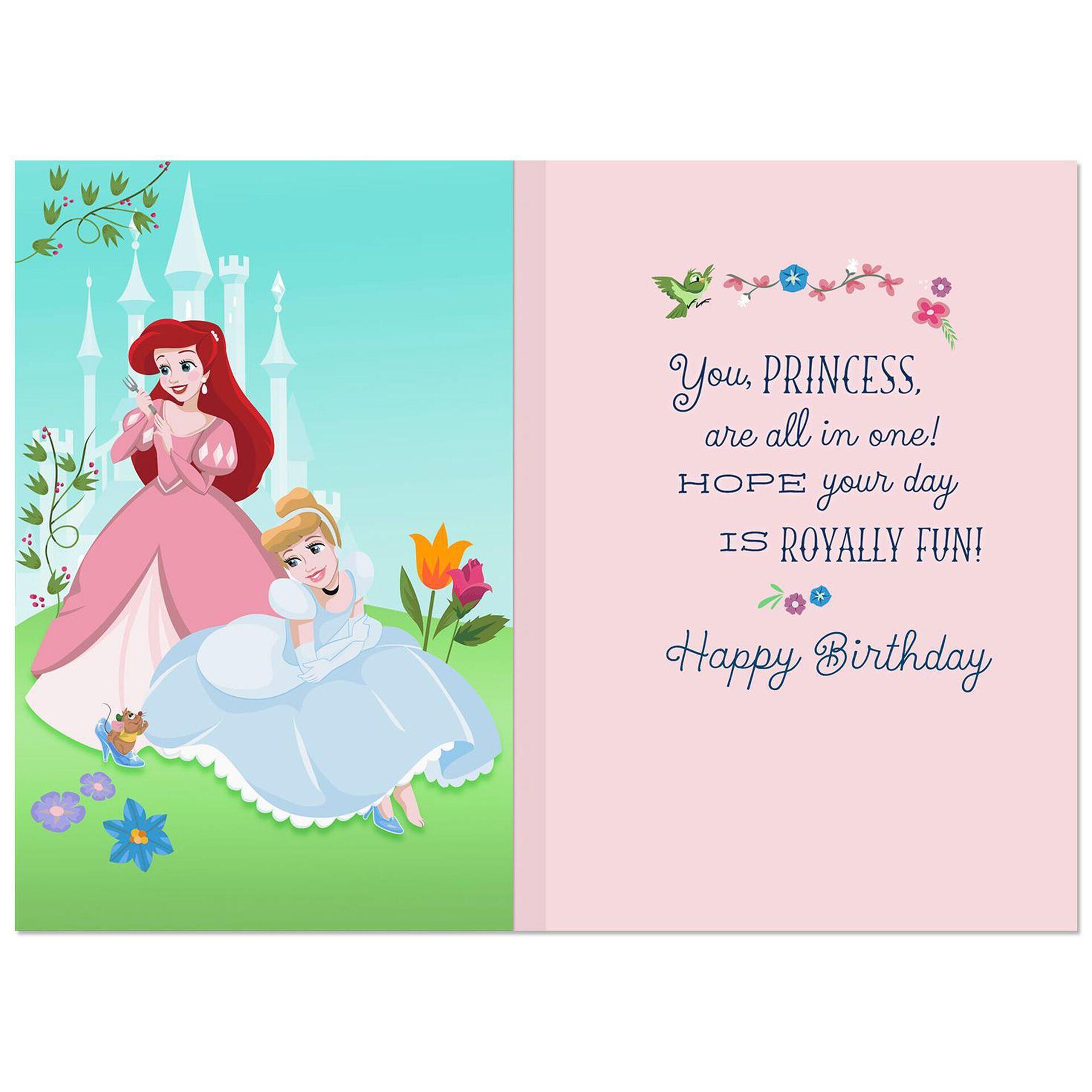Disney Princesses Royally Fun Musical Birthday Card Greeting Cards Hallmark Musical Birthday Cards Birthday Cards Birthday Card Sayings