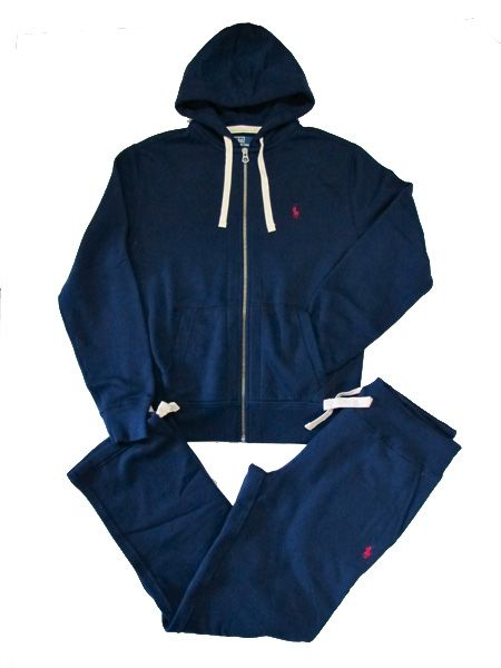 912ae01e97ca0 Polo Ralph Lauren Navy Fleece Zipper Hoodie and Draw-string Sweatpants.  Lounge in style.