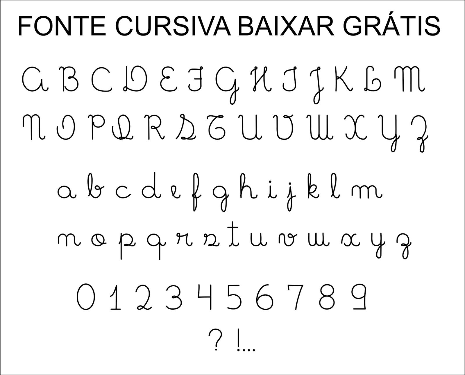 Fonte letra cursiva para baixar gr tis super dica - Fuente letra infantil ...