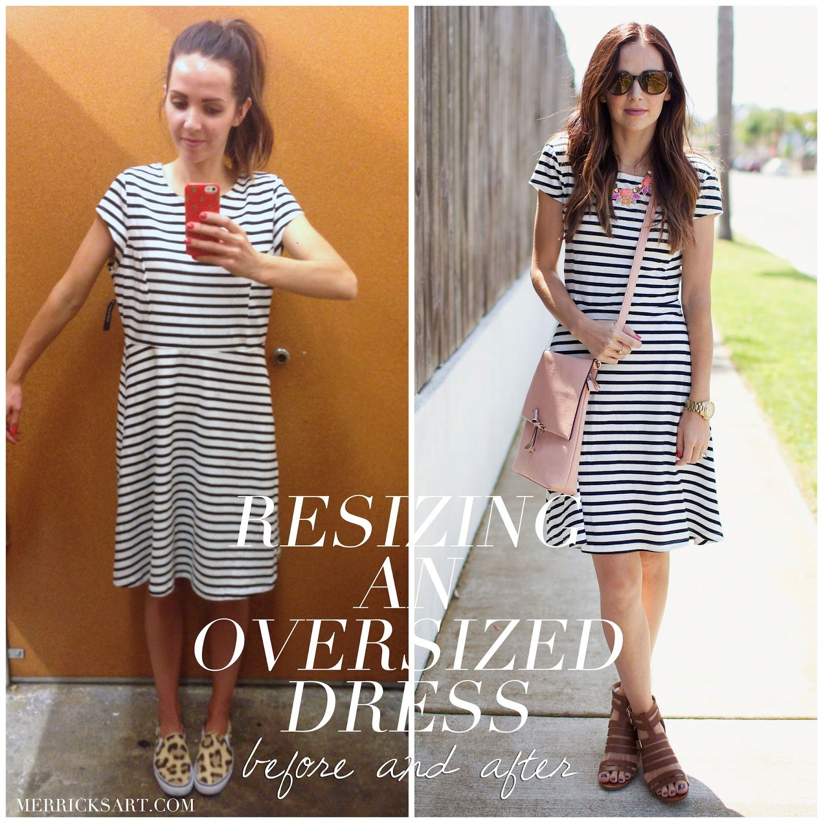 Merrick's Art // Style + Sewing for the Everyday Girl: RESIZING AN OVERSIZED DRESS (TUTORIAL)