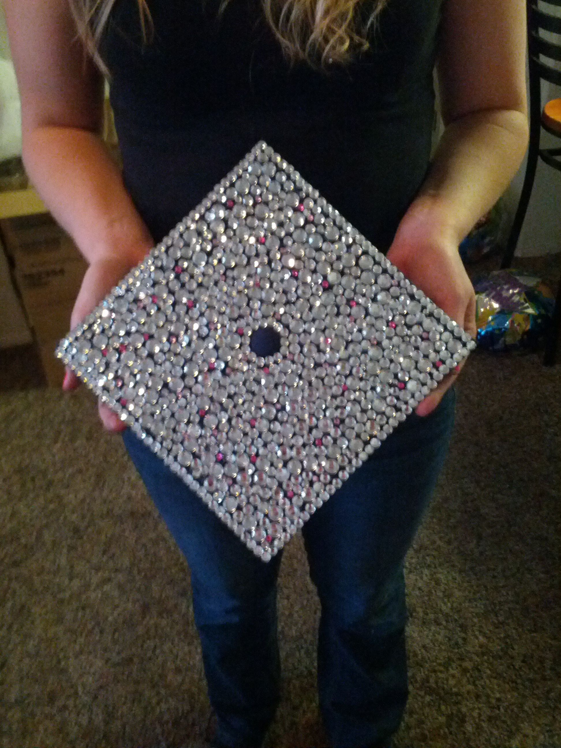 Graduation Cap for but decorated with college stuff