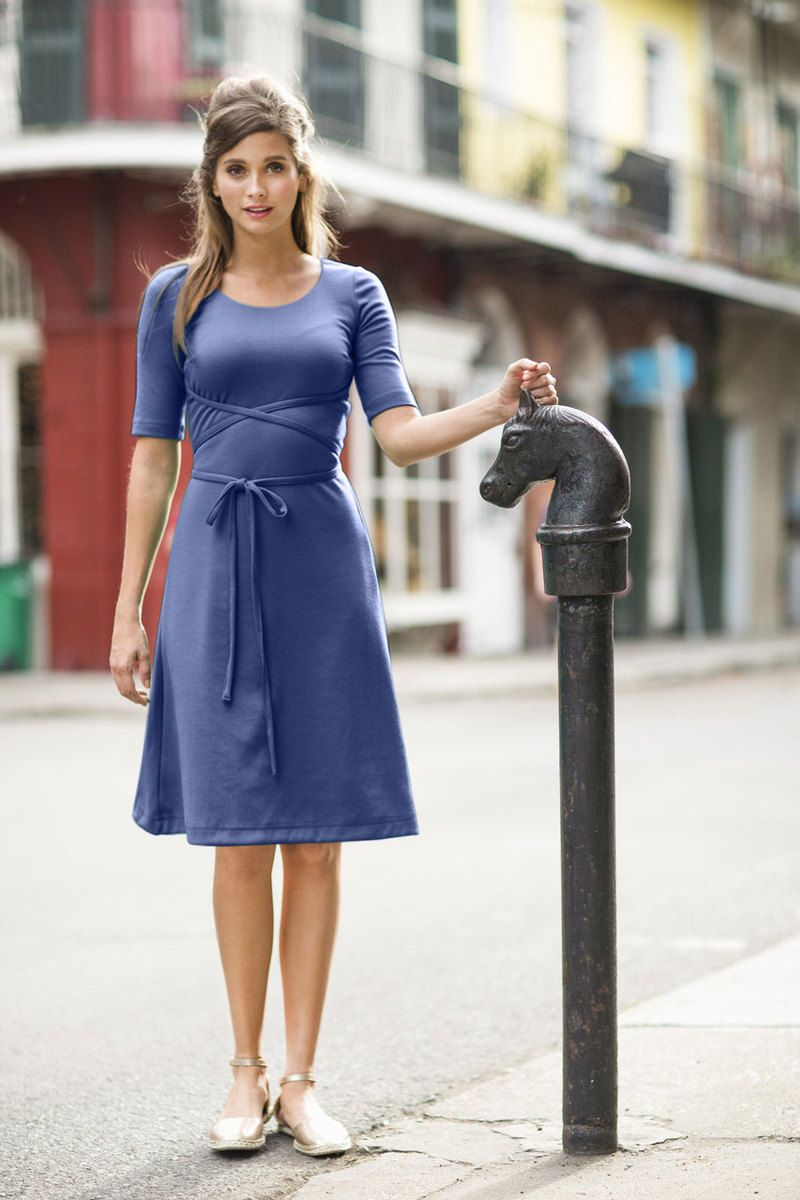 0c823d5e705 Day at the Park Dress Navy from the Spring Collection by Shabby Apple