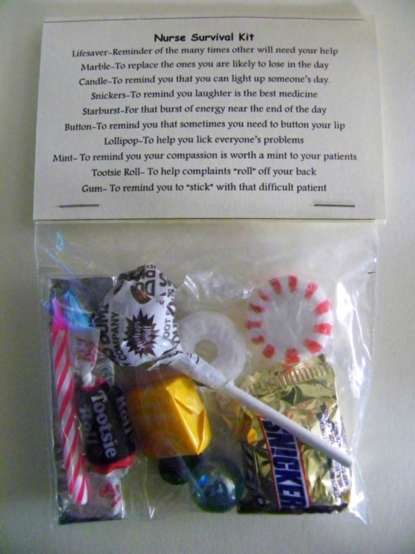 Nurse Survival Kit * 10 items inside - Novelty gift