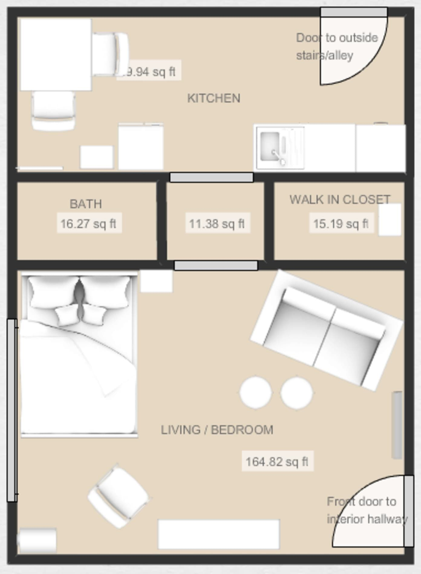5 Smart Studio Apartment Layouts That Work Wonders For One Room Living In 2020 Apartment Furniture Layout Apartment Layout Bedroom Furniture Layout