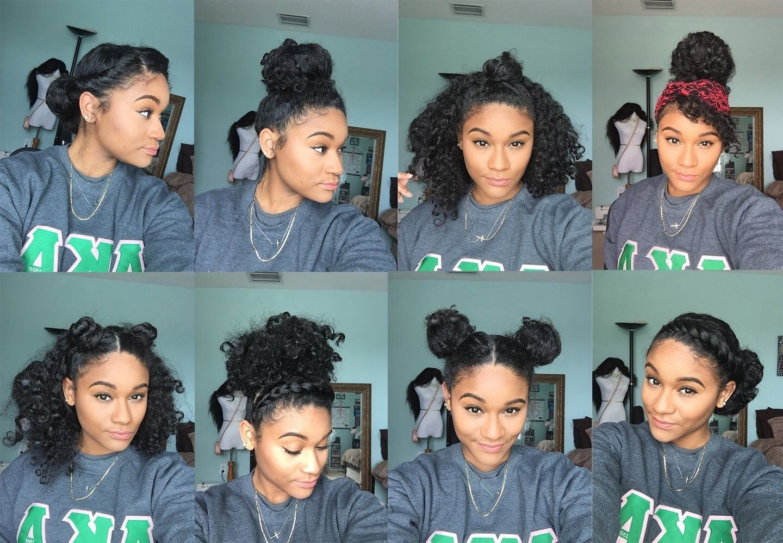 natural hair | 8 bun styles for curly hair | hair goals