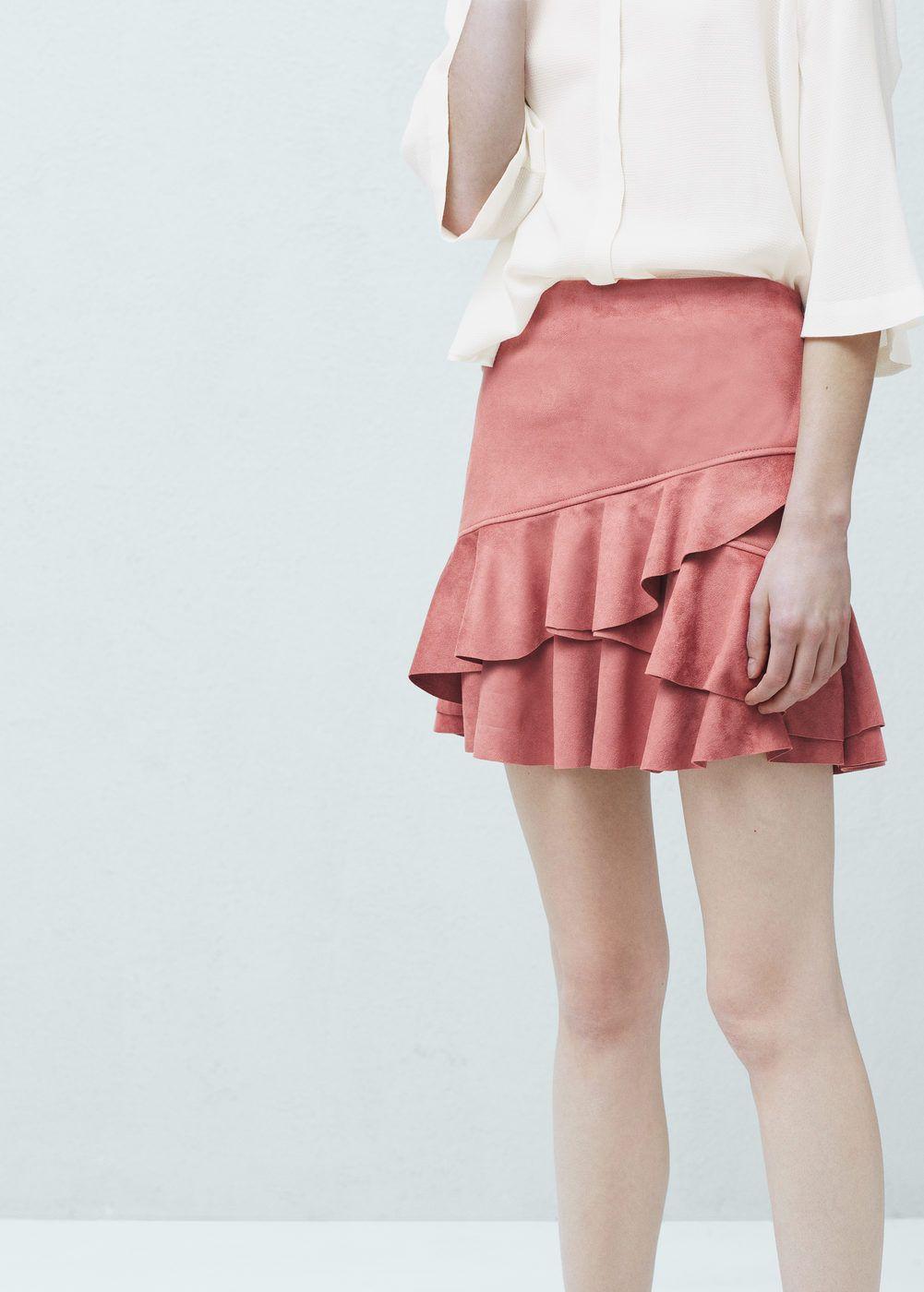 como comprar mejores marcas estética de lujo Falda volante - Mujer | Style | Falda con volantes, Faldas y ...