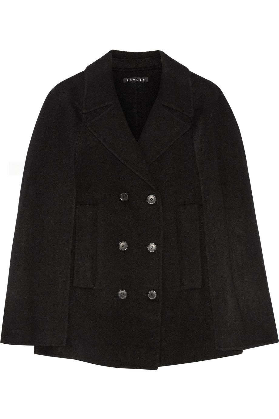 d9e712212e Shop on-sale Theory Kapalin wool and cashmere-blend cape. Browse other  discount designer Jackets & more on The Most Fashionable Fashion Outlet,  THE OUTNET.