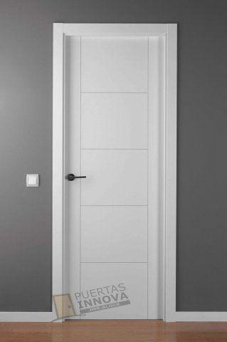 Cat logo puertas lacadas blancas puertas innova s l u for Modelos de puertas de interior modernas
