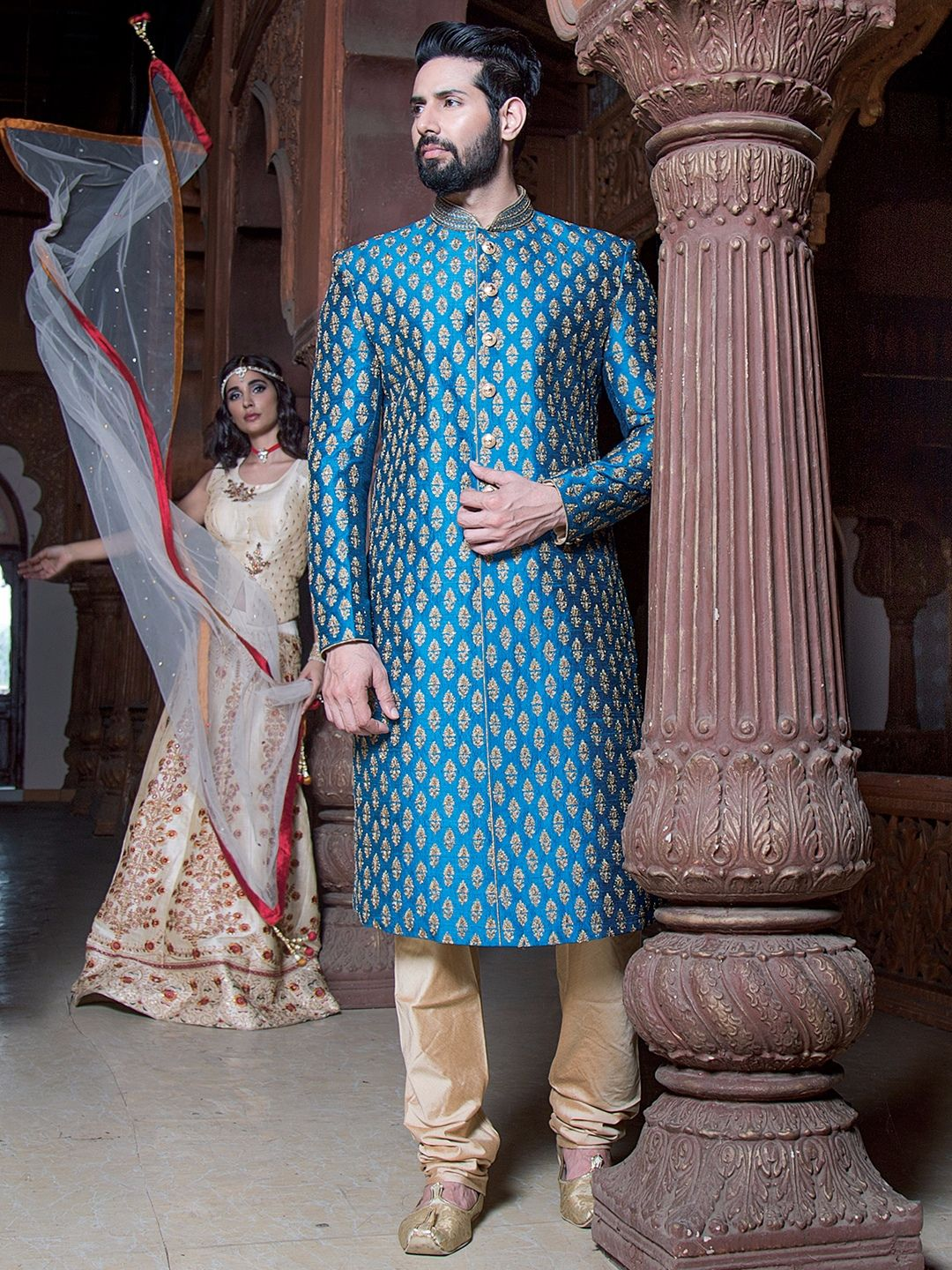 Silk Wedding Indo Western | Buy Mens Wedding sherwani at G3 Fashion ...