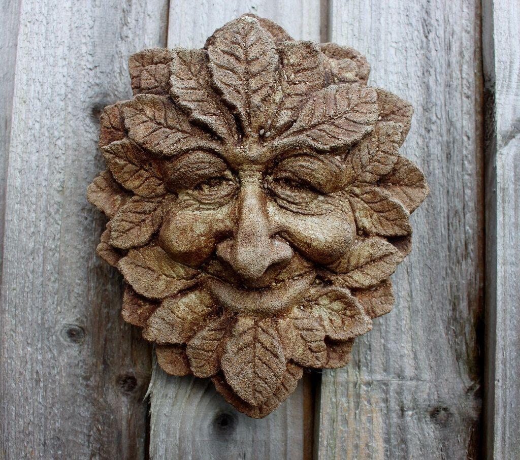 Mystical Autum Green Man, Stone Wall Decor, Garden Decoration, Made In  Cornwall, Cornwall Stoneware, Home U0026 Garden, Unusual Gift Idea