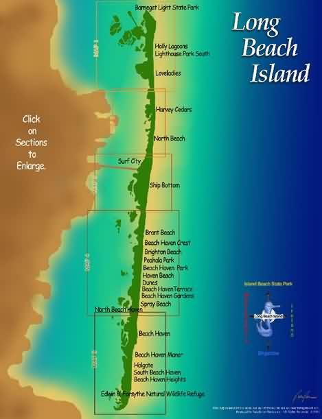 Long Beach Island Map Long Beach Island Island Map Jersey Shore