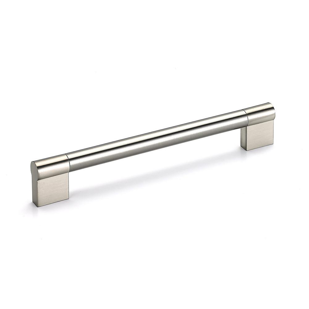 Richelieu Hardware 6 5 16 In 160 Mm Center To Center Brushed Nickel Contemporary Drawer Pull Bp527160195 The Home Depot In 2020 Contemporary Drawers Stainless Steel Cabinet Pulls Contemporary Drawer Pulls