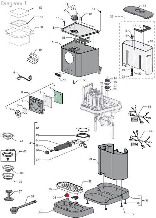 gaggia baby twin parts diagram part diagrams pinterest diagram. Black Bedroom Furniture Sets. Home Design Ideas