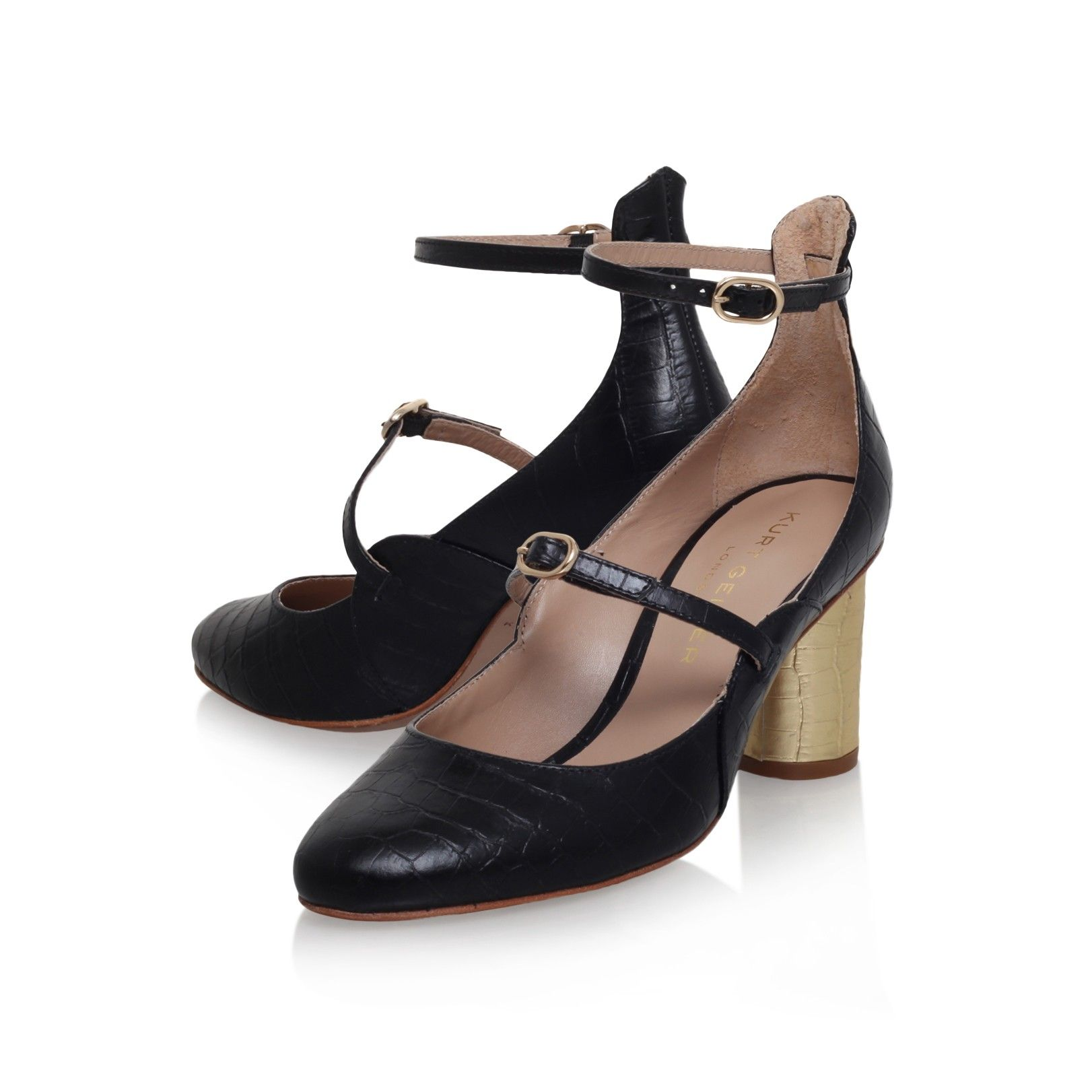 maggie black mid heel court shoes from Kurt Geiger London
