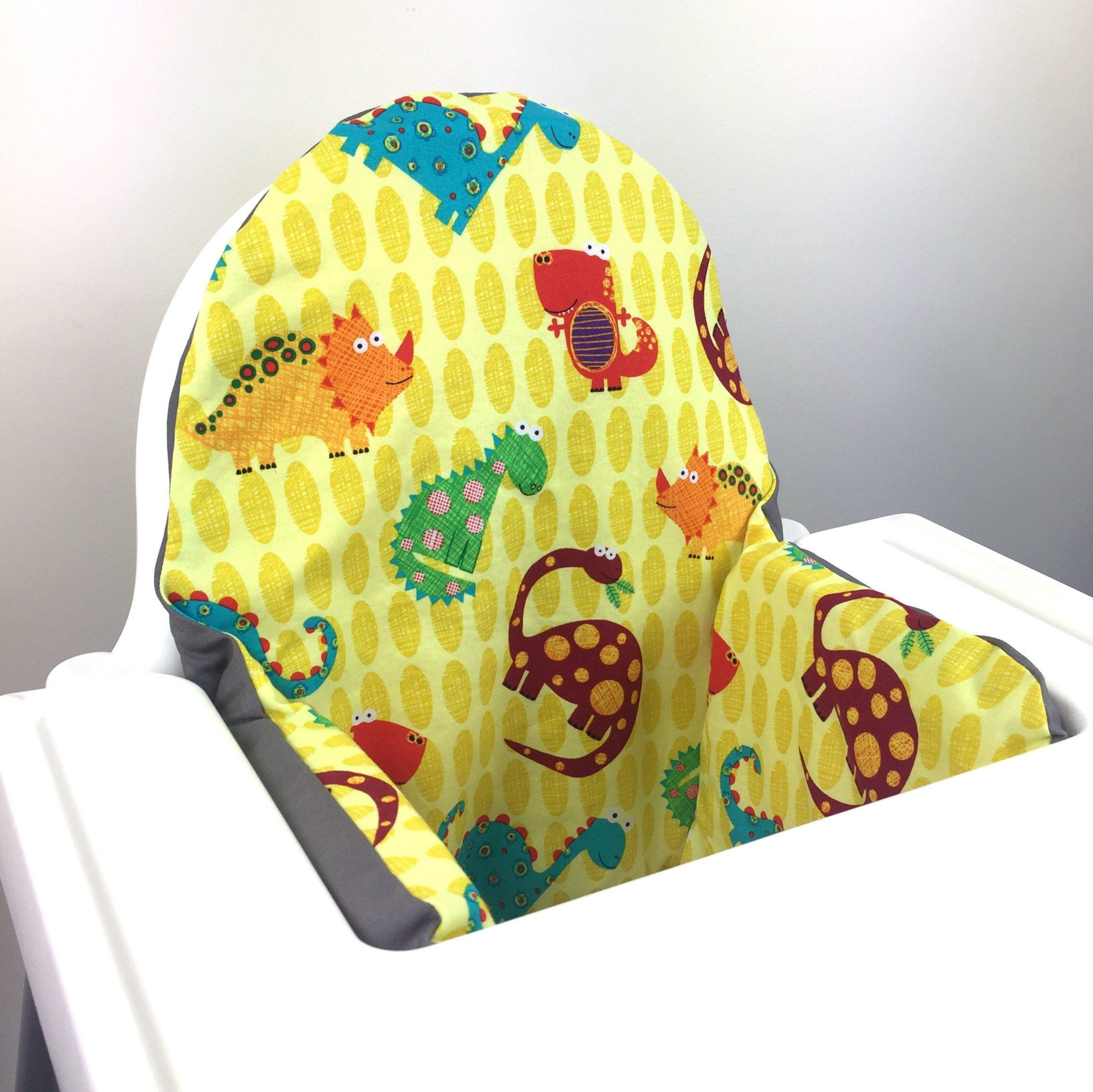 Yellow dinosaur IKEA Antilop highchair high chair cushion