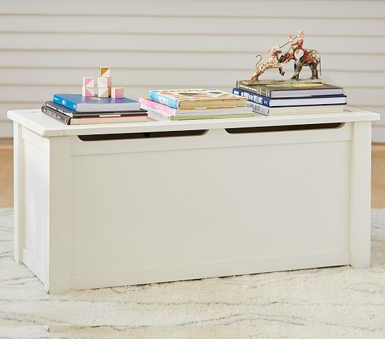 Ultimate Toy Chest, Simply White | Pottery Barn Kids.. Living Room Storage?