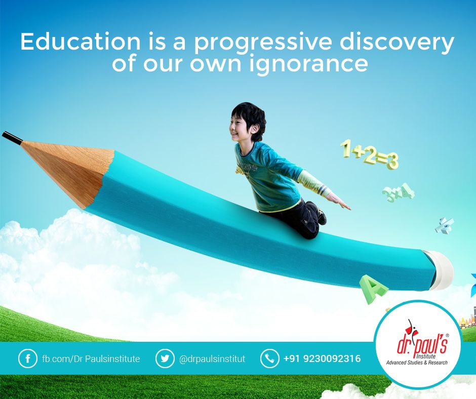 Quoteoftheday Education Is A Progressive Discovery Of Our Own