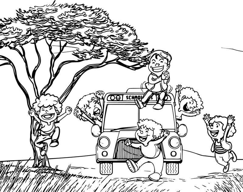 Crazy Child School Bus Coloring Page School Coloring Pages Kids School School Images