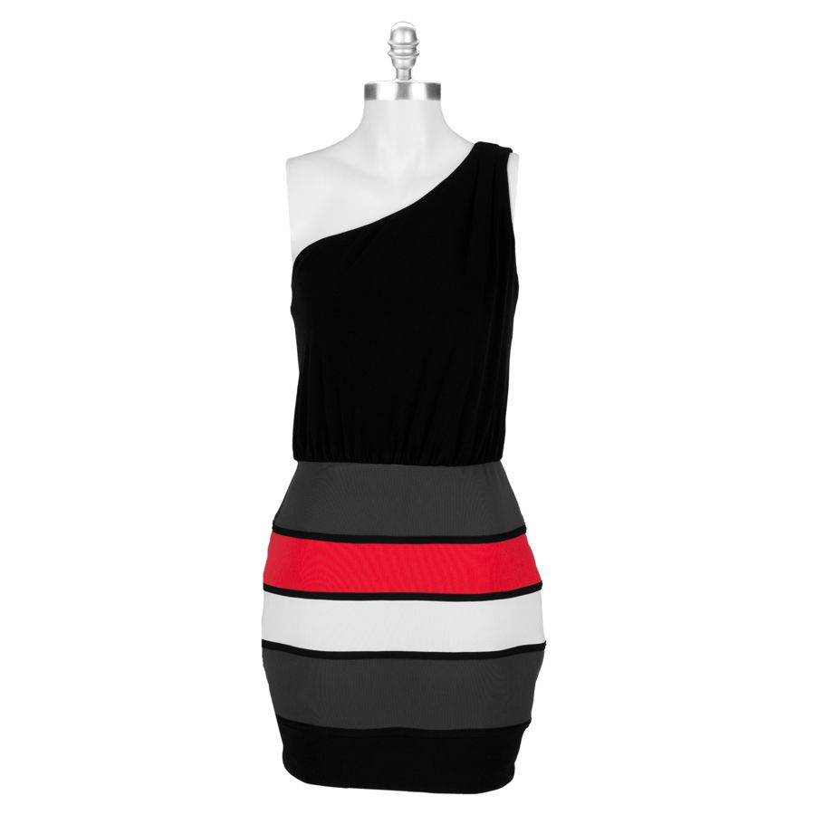 Bcx Juniors One Shoulder Color Block Dress Vonmaur Colorblock Dress Dresses Beautiful Dresses [ 900 x 900 Pixel ]