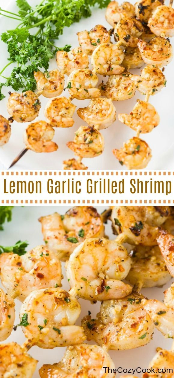 Lemon Garlic Shrimp - The Cozy Cook