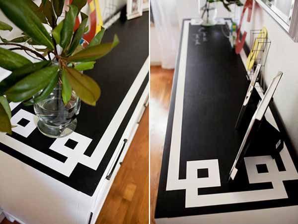 Blackboard Paint Dresser Black White Decor Fun Furnitue Dresser