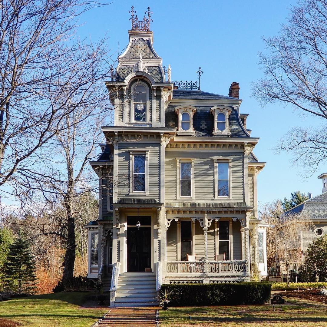 George Lord Little House Kennebunk Maine Victorian Homes Victorian Architecture Old Houses