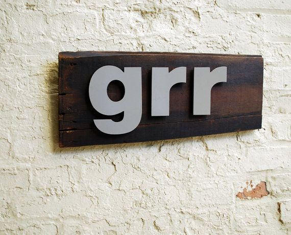 Metal Letters On Wood Interesting Hand Made Sign With Metal Letters On Old Wood Grr Sign  Great 2017