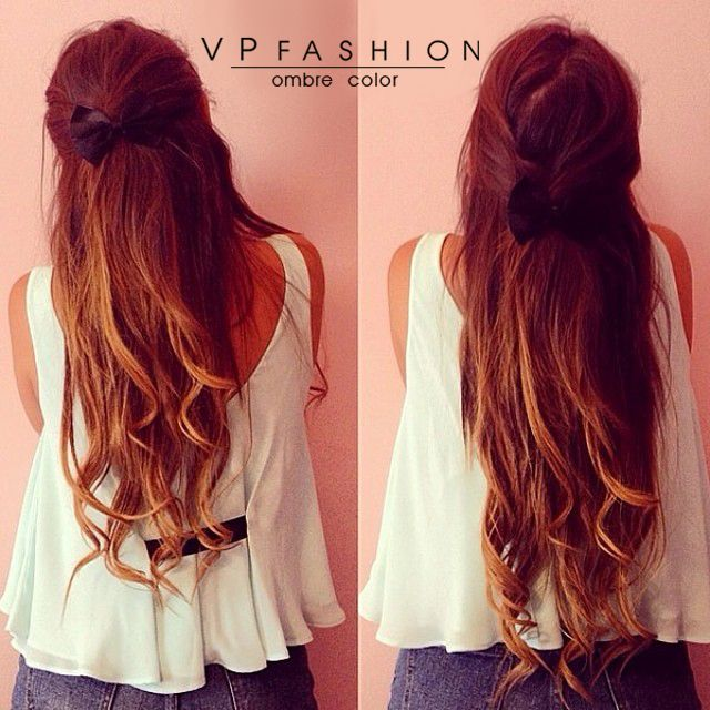 wavy two tone ombre indian remy clip in hair extension usw152