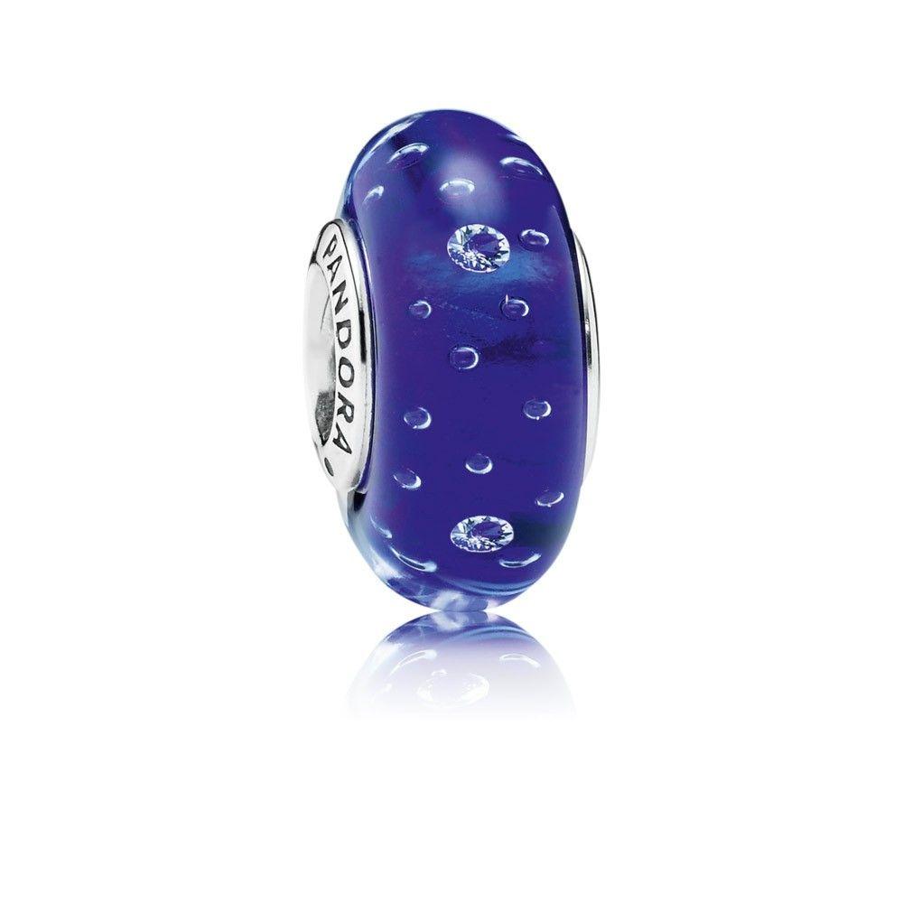 Pandora Charms Dark Blue Effervescence Clear Cz Czq964 Pandora Jewelry Pandora Jewelry Charms Pandora Murano