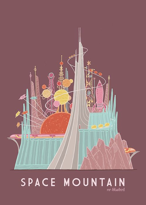 Space Mountain Poster  43562e70f96
