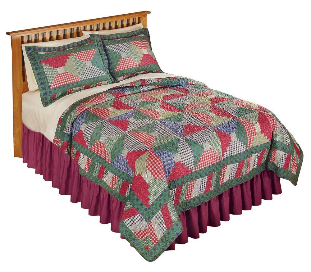 Country cabin patchwork quilt multi full