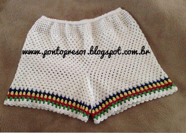 Croche - Um SHORT simples com bom caimento... | Stricken häkeln ...