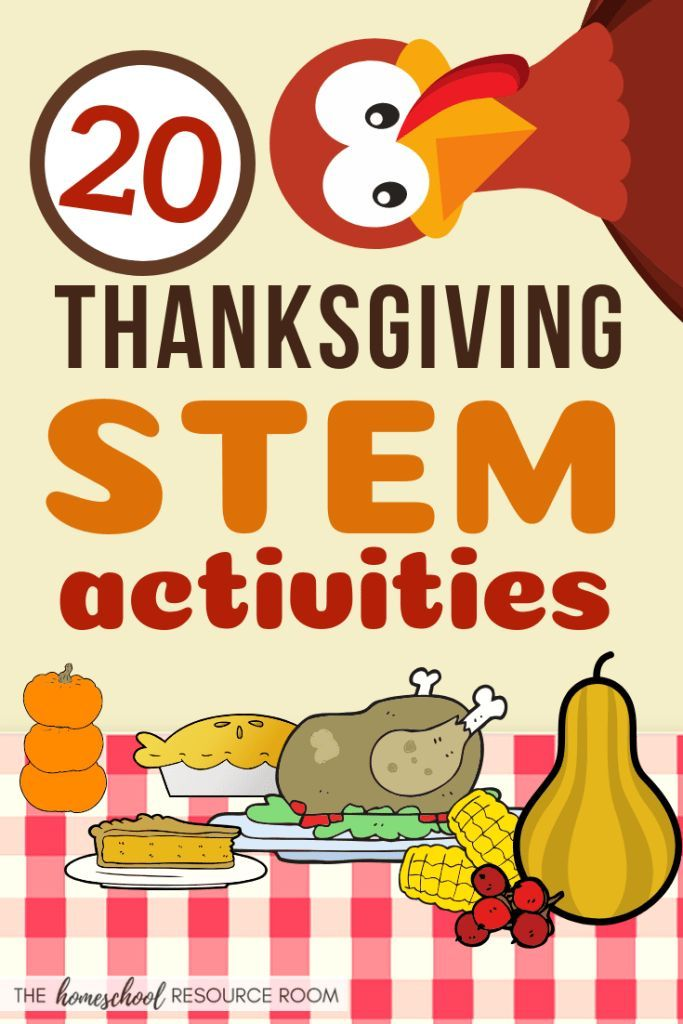 20 Thanksgiving STEM Activities! #stemactivitieselementary