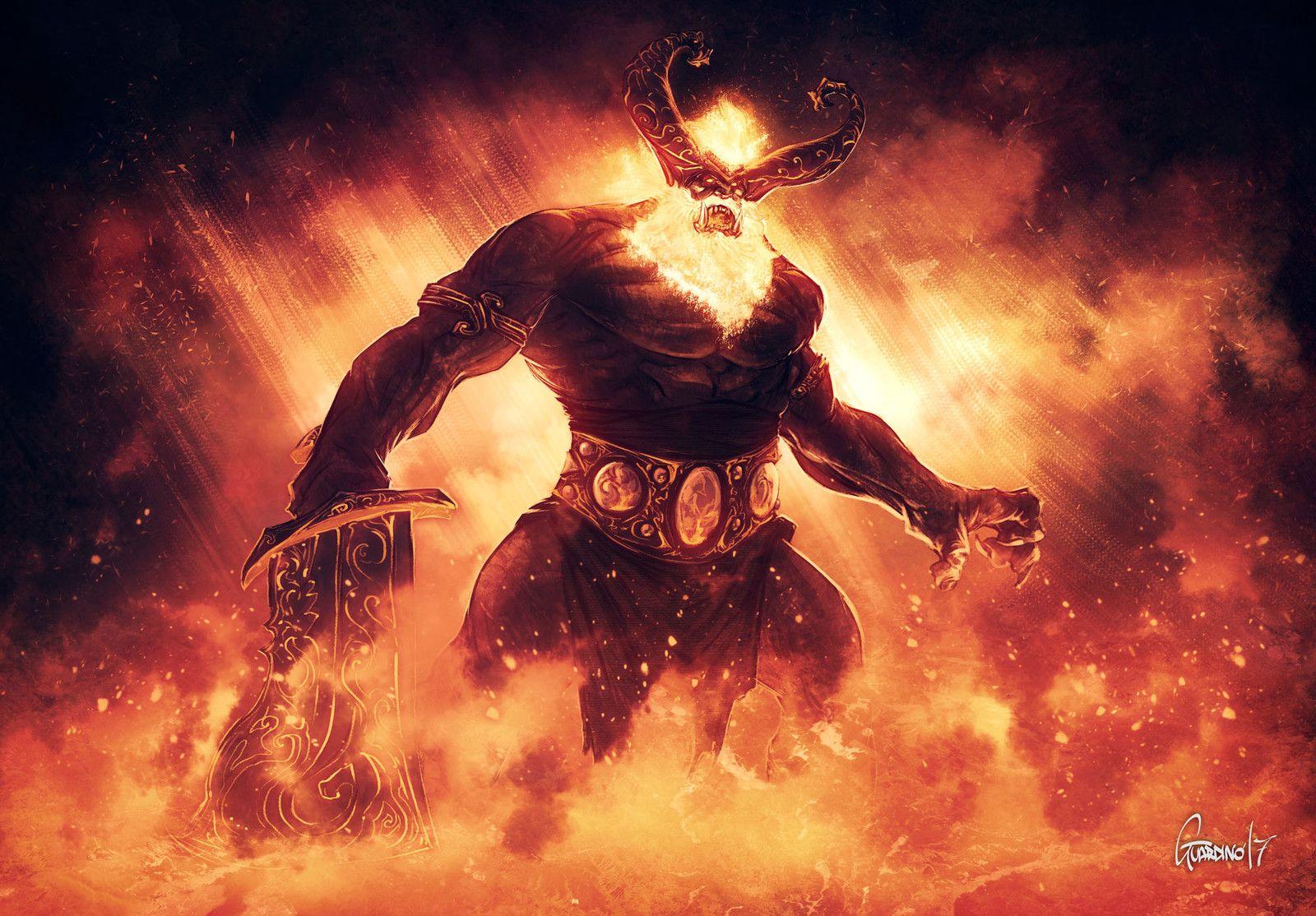 Image of giant Surt Muspelheim lord