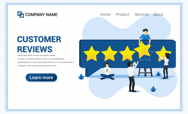 Customer Reviews Concept With People Giving Five Stars Rating Positive Feedback Satisfaction And Evaluation For Product Or Services In 2020 Customer Review Star Rating Five Star