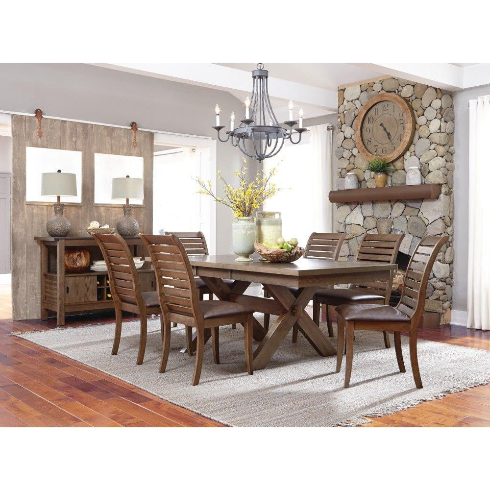 Trestle Dining Table & 4 Chairs